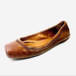 Lucky Brand Ballet Flats Size 6.5 B Brown Leather.